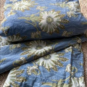 3 piece PotteryBarn King Duvet Set